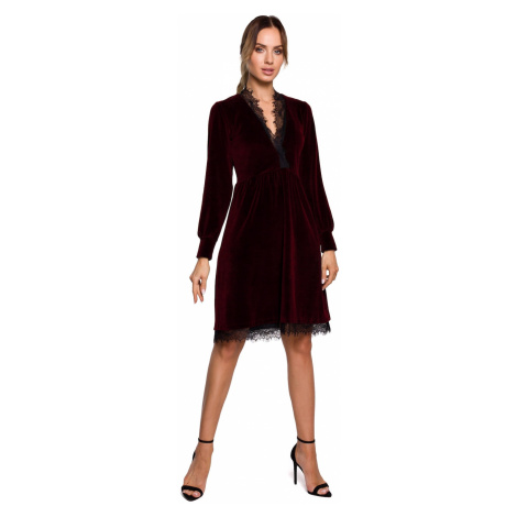 Made Of Emotion Woman's Dress M563 Maroon