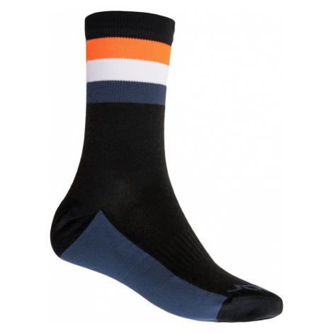 COOLMAX SUMMER STRIPE Sportovní ponožky 20100039 černá/oranžová Sensor