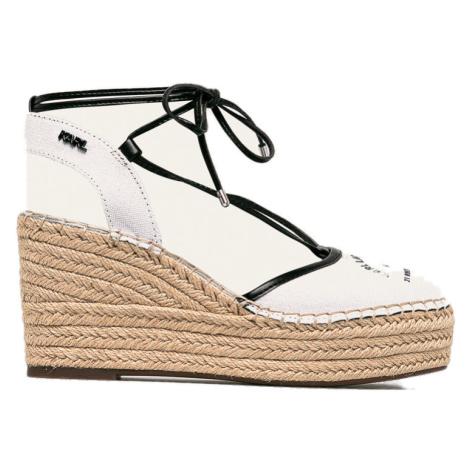 Bílé sandály - KARL LAGERFELD
