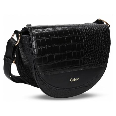 Černá dámská malá kabelka s hadím vzorem Gabor