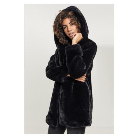 Urban Classics Ladies Hooded Teddy Coat black