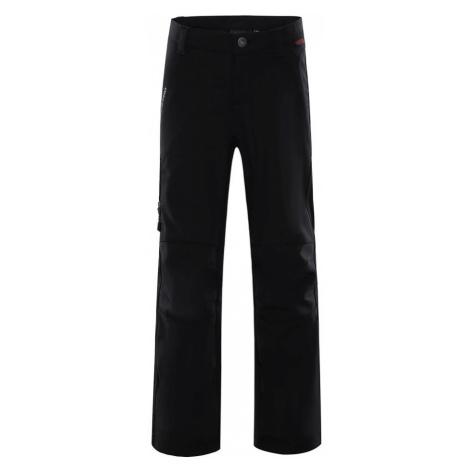 ALPINE PRO PLATAN 2 INS. Dětské zateplené softshellové kalhoty KPAM050990 černá