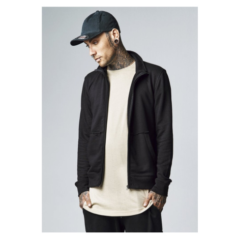 Loose Terry Zip Jacket - charcoal