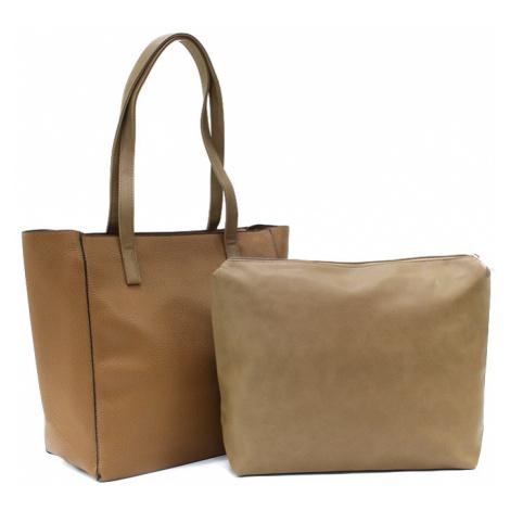 Hnědý dámský kabelkový set 2v1 Meryl Tapple