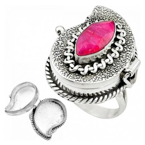 AutorskeSperky.com - Stříbrný jedový prsten s rubínem - S2278