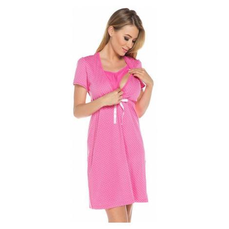 Italian Fashion Bavlněná těhotenská noční košile Alena růžová