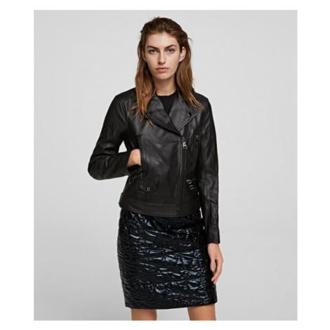 Bunda Karl Lagerfeld Ikonik Rs Leather Biker Jacket - Černá