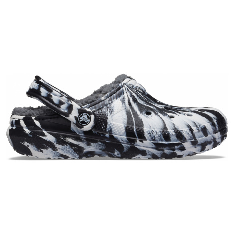 Crocs Classic Lined Marbled Clog White/black