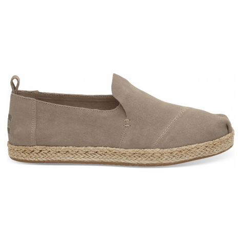 Desert Taupe Suede Deconstructed Alpargata Rope Toms