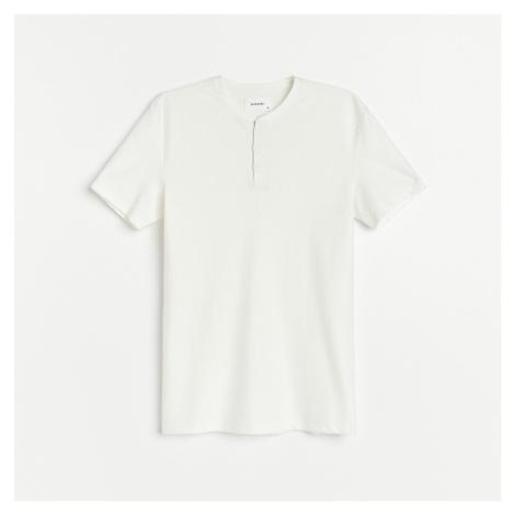 Reserved - Strukturované tričko s dlouhými rukávy - Bílá