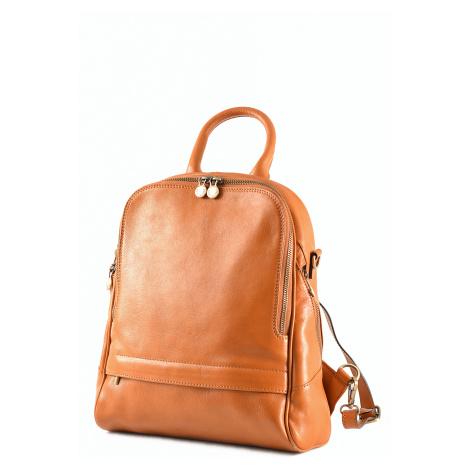 Klasický dámský kabelko-batoh kožený rezavý, 29 x 11 x 33 (6516-13)