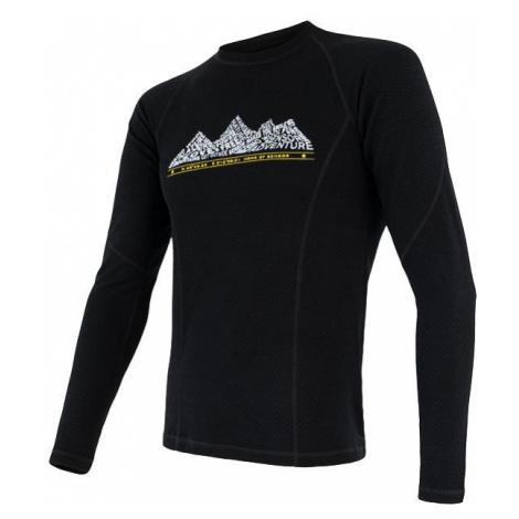 Pánské tričko SENSOR Merino DF Adventure dl. rukáv černá