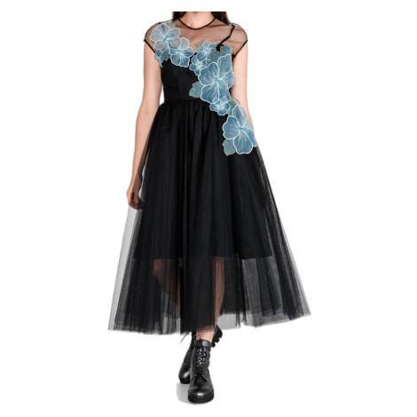 Luxusní černé plesové šaty - PINKO