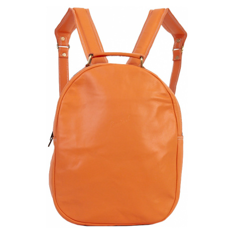 Bagind Maley Mars - Dámský kožený batoh oranžový, ruční výroba, český design