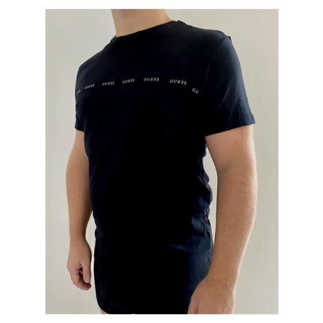 Pánské triko Guess U0BM04 černá | černá
