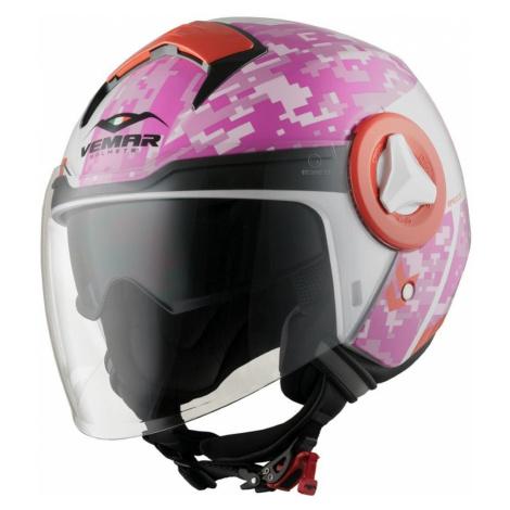 Moto Přilba Vemar Breeze Camo Růžová