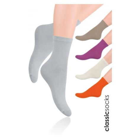 Hladké dámské ponožky Steven art.037