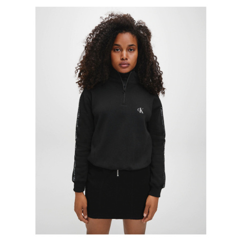 Calvin Klein dámská černá mikina se zipem