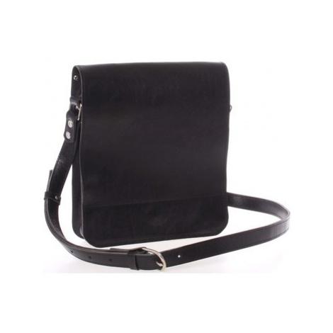 Kabea Černá luxusní kožená taška přes rameno Luxor Černá