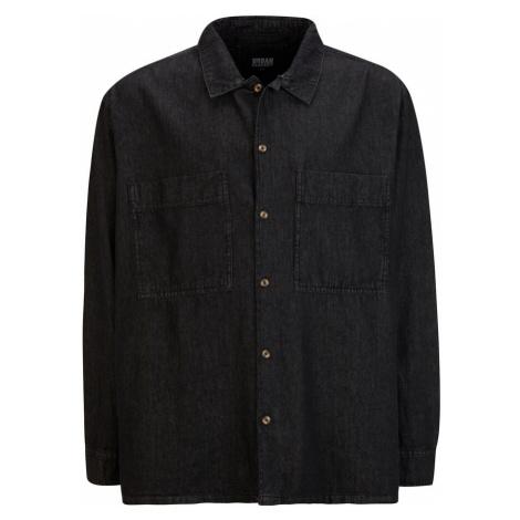 Urban Classics Plus Size Košile černá