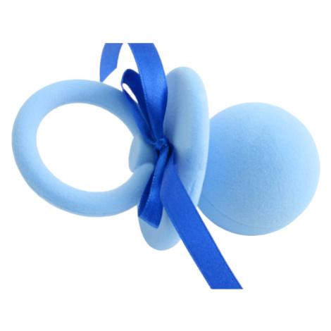 JKBOX Sametová krabička Modrý Dudlík s mašlí na prsten nebo náušnice pecky IK026