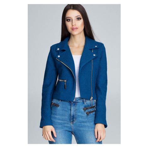 Dámská stylová krátká jarní bunda podzimní s podšívkou na zip