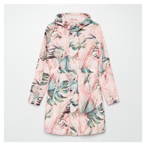 Cropp - Vzorovaná bunda typu parka - Růžová