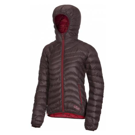 Dámská péřová bunda Ocún Tsunami Women chocolate/garnet red
