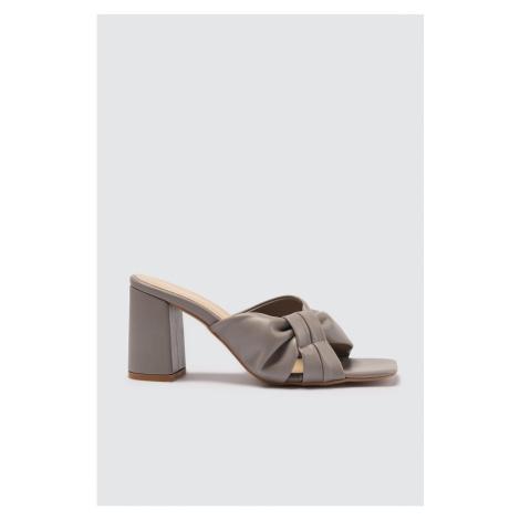 Trendyol Stone Block Toe Women Slippers