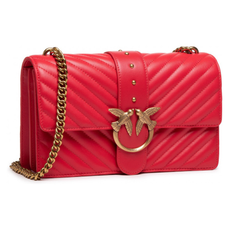 Červená kožená kabelka - PINKO | Love Classic Icon