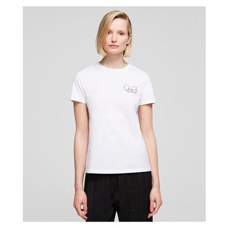 Tričko Karl Lagerfeld Karl X Olivia Mini Profile Tee - Bílá