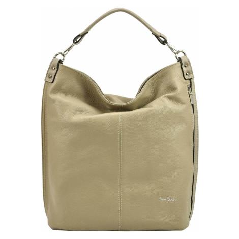 Dámská kožená kabelka Pierre Cardin Nella - béžová