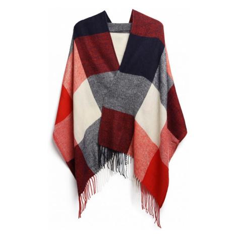 Červený dámský dlouhý modní šál se střapci Belen Lulu Bags