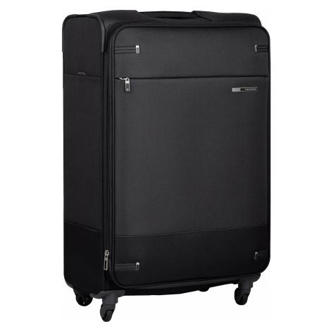 Černý kufr na kolečkách textilní Samsonite