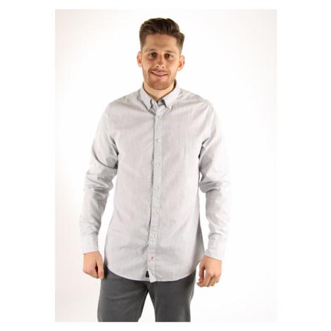 Tommy Hilfiger pánská šedá košile se vzorem