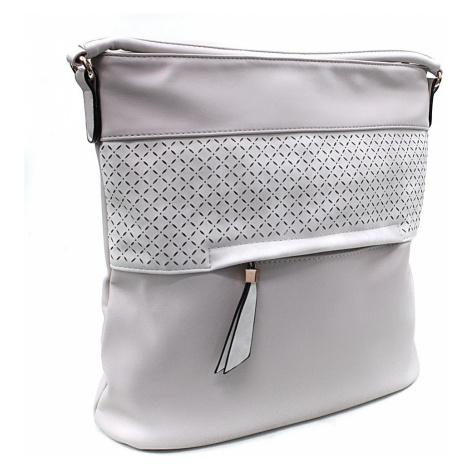 Světle šedá dámská crossbody kabelka s vyraženým vzorem Jocelyn New Berry