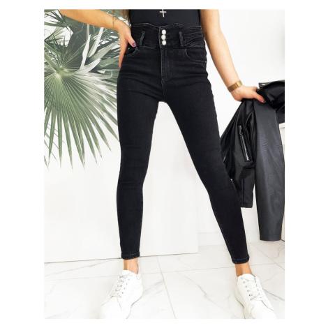 Černé džíny s vysokým pasem UY0680 BASIC