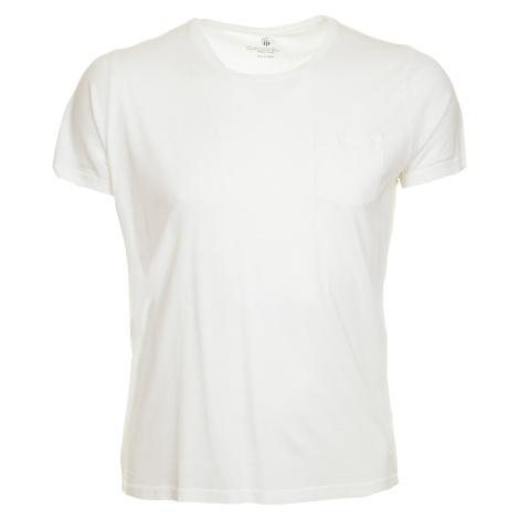 Pánské bílé tričko Gant s kapsičkou