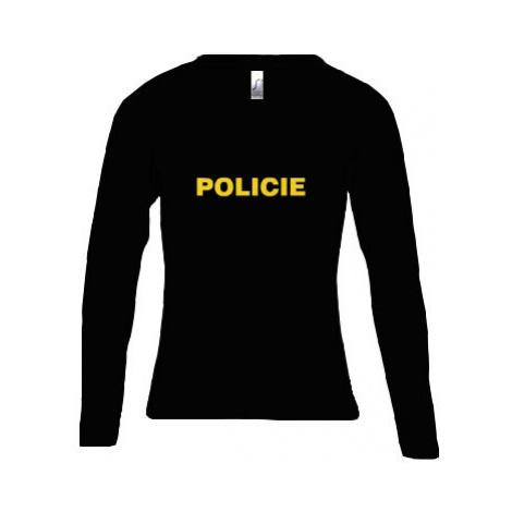 Dámské tričko dlouhý rukáv kulatý výstřih Policie