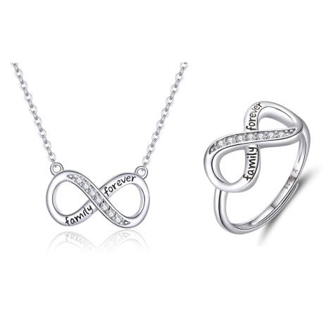 Linda's Jewelry Zvýhodněná sada šperků Nekonečno Forever Family IS018