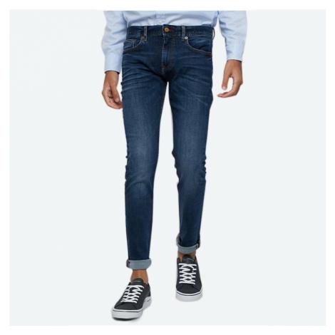 Tommy Hilfiger pánské tamvě modré džíny Layton
