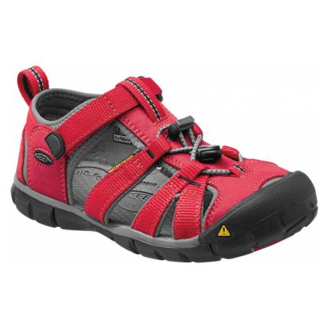 KEEN SEACAMP II CNX JR Dětské sandály KEN1201103306 racing red/gargoyle