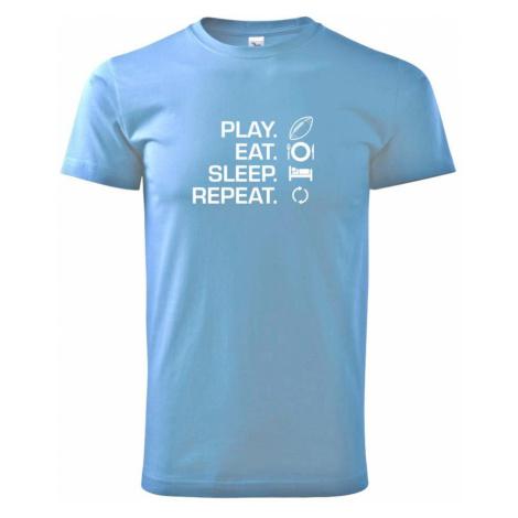 Play Eat Sleep Repeat americký fotbal - Heavy new - triko pánské