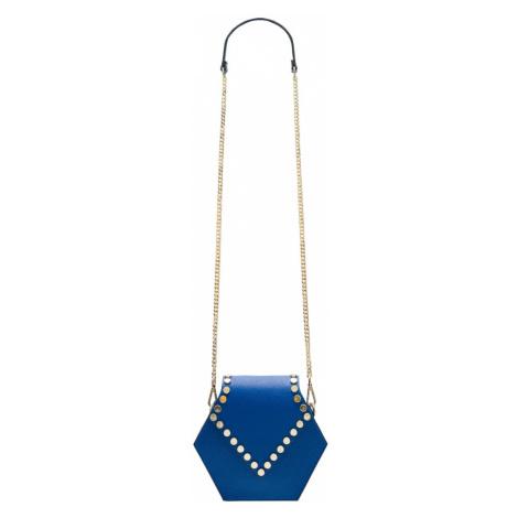 Dámská kožená crossbody kabelka asymetrická - královsky modrá Glamorous