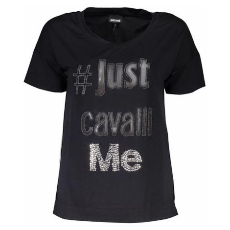 Černé triko JUST CAVALLI