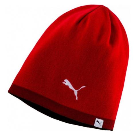 Puma REVERSIBLE BEANIE červená - Zimní čepice