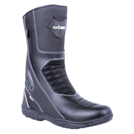 Kožené moto boty W-TEC Wurben NF-6050 Barva černá