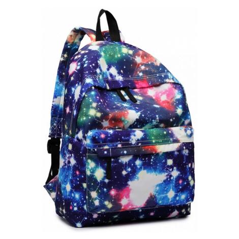 Tmavě modrý netradiční batoh s motivem vesmíru Deidre Lulu Bags