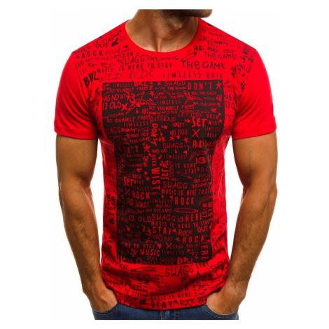 Buďchlap Červené tričko se stylovým potiskem  1173