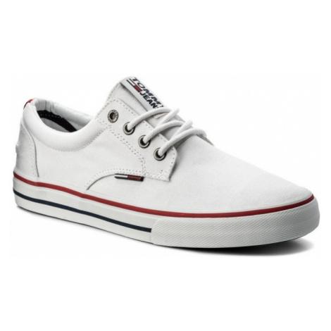 Tommy Hilfiger Tommy Jeans pánské bílé plátěné tenisky